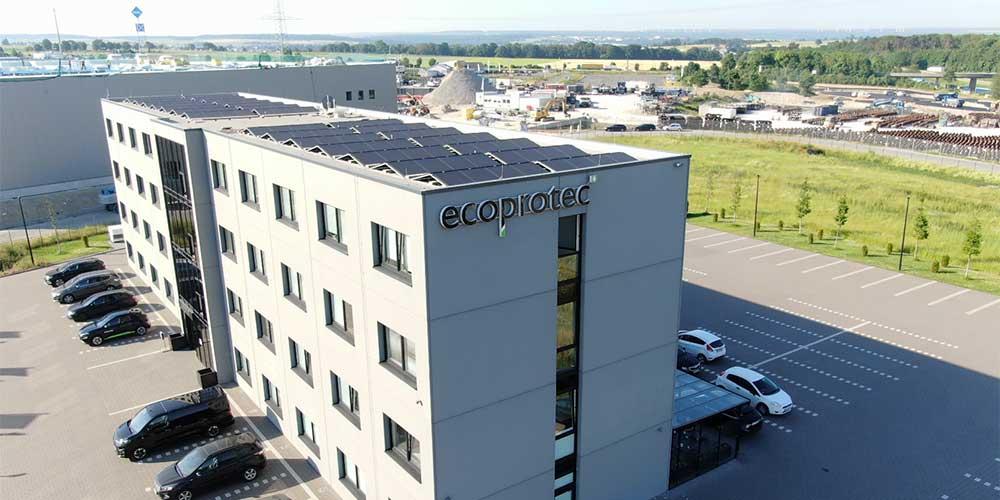 ecoprotec Paderborn Gebäude Luftaufnahme