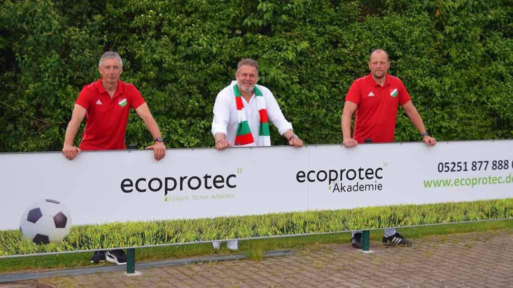 ecoprotec Fußball Trainer Bandenwerbung