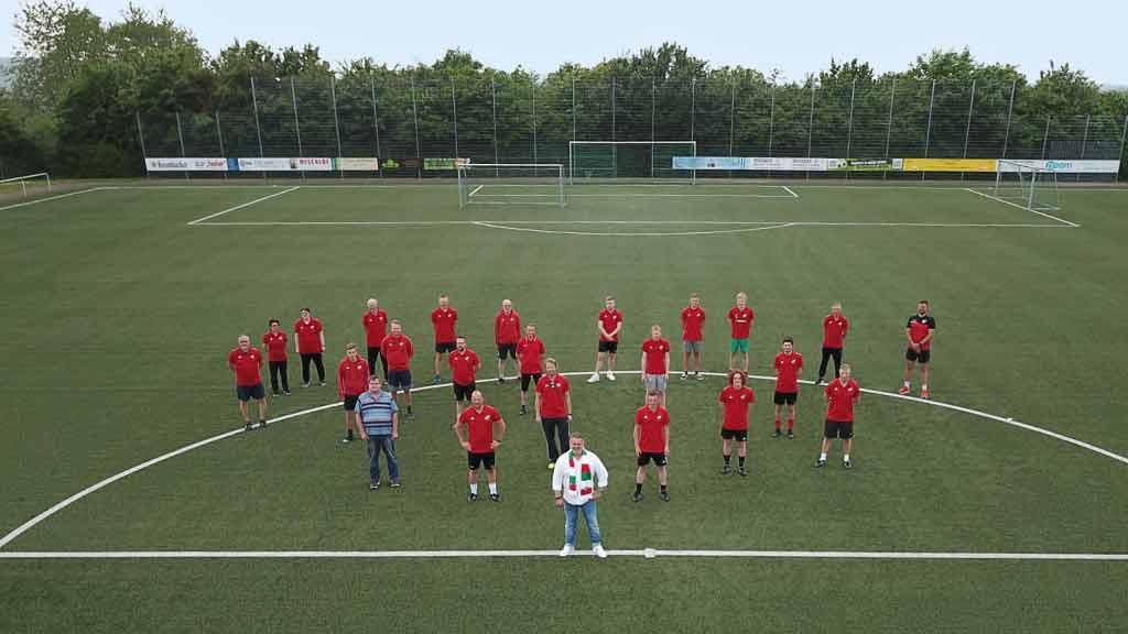 ecoprotec Fußball Sponsoring Trainer FC Dahl Luftaufnahme Fußballplatz