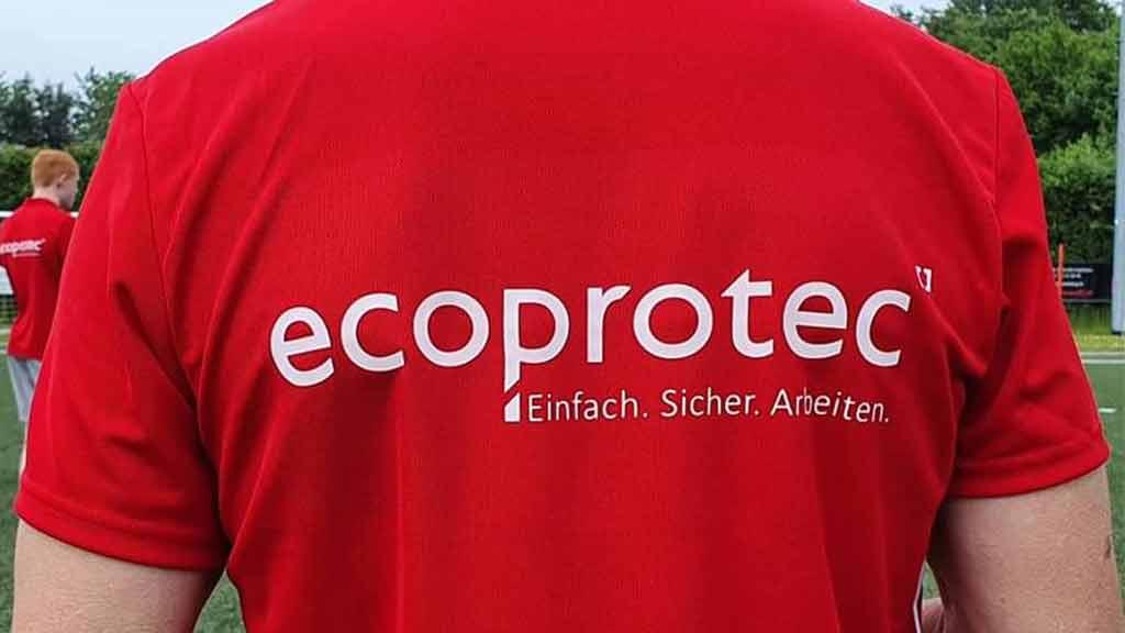 ecoprotec Trikot Sponsoring rotes Shirt Trainer FC Dahl Dörenhagen