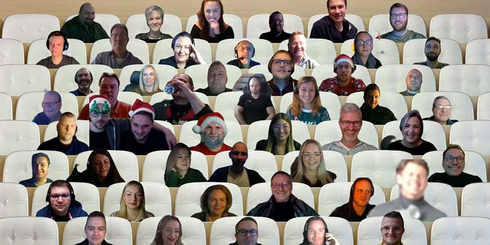 Digitale Weihnachtsfeeir der ecoprotec GmbH 2020