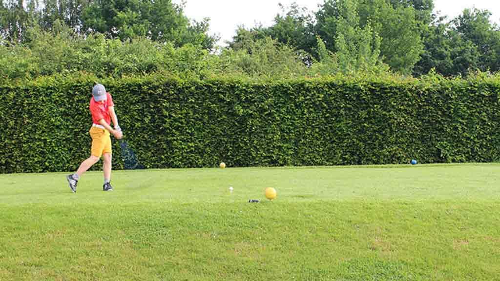 Golf spielen Turnier putten Schläger Golfball Rasen