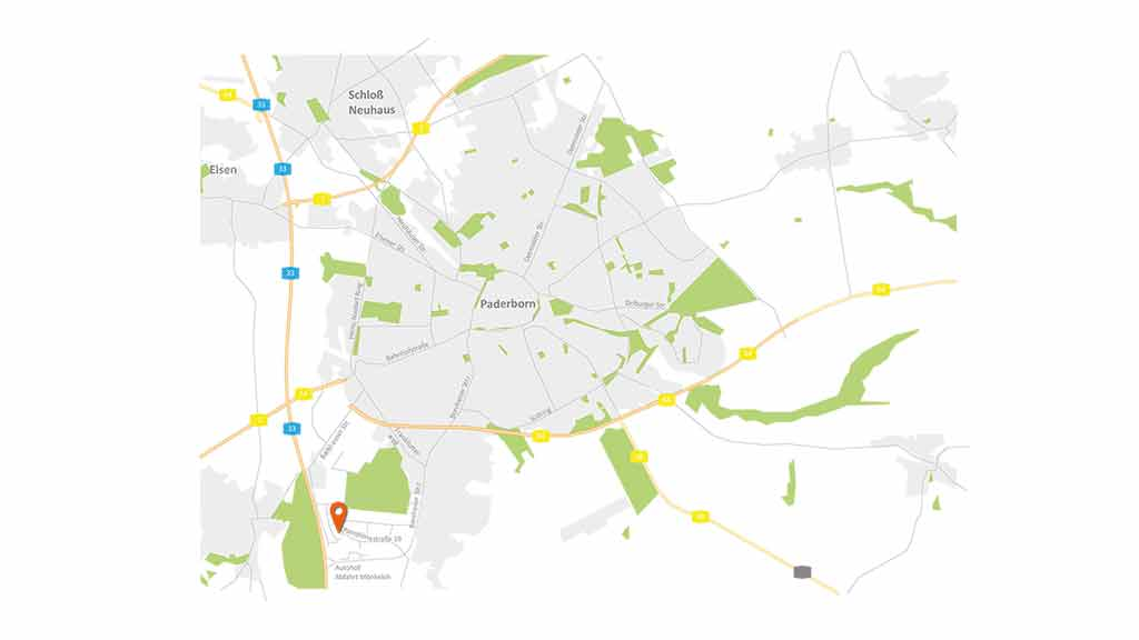 ecoprotec GmbH Paderborn Karte Grafik Anfahrt Standort